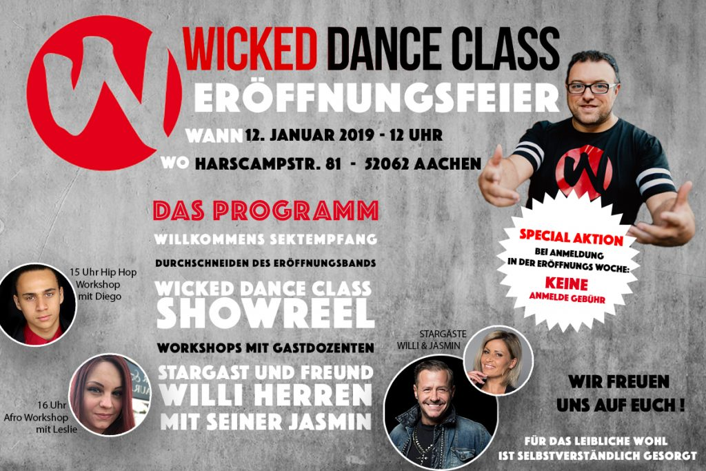 Wicked Dance Class Eröffnung